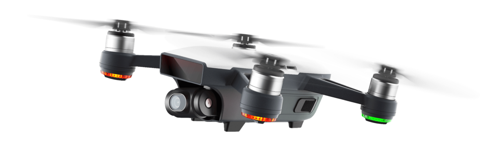Dji Spark - Quickshot, ActiveTrack,Tapfly,Gesture.High Performance Camera. 1/2.3 Sensor, Powerful Lens.UltraSmooth, Mechanical Gimbal.31 mph (50 kph) in Sport Mode without wind2-axis mechanical (pitch, roll)