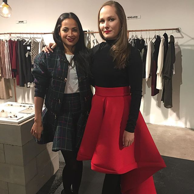 Celebrating with this special lady @solomeinajewelry . Happy bday 🎈❤️️ She  looks awesome in her #LayanaAguilar high low red skirt. #russianprincess  @flyingsolonyc #madeinnyc #stylishgirls #wewearlayanaaguilar #nycstyle
