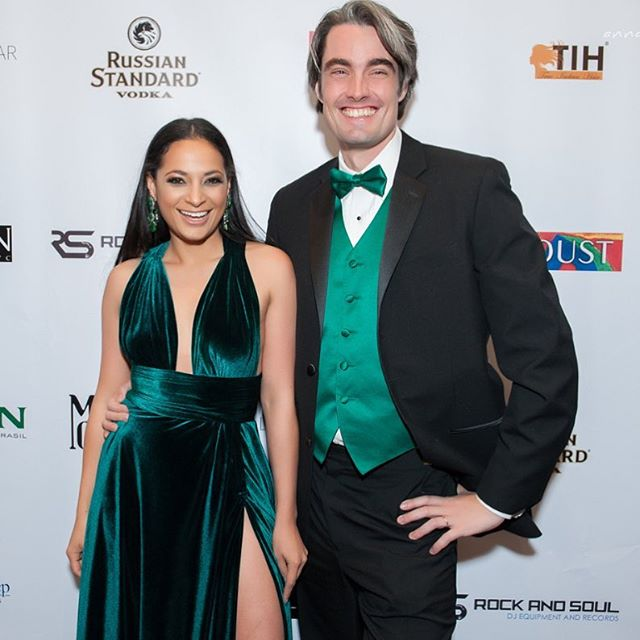 From last night with the love of my life 💚💚#myhubby #foragoodcause  Dress by me of course!!!! Make up by the best @shanimakeup . . #layanaaguilar #photooftheday #instagood #fightagainstcancer  Thank you @americancancersociety @bymarcellocosta for a great night
