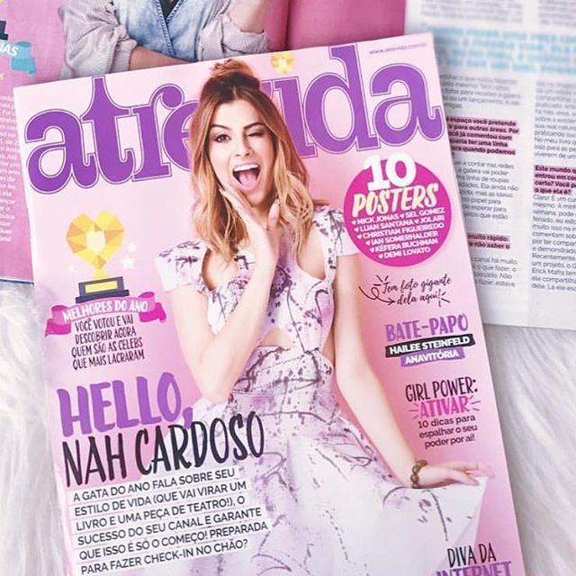 Brazilian blogger @nahcardoso wearing #LayanaAguilar on the cover of @revista_atrevida 💕💕 this dress is so dear to me because the paint splashes were done by mine and my baby boy's hands 💕💕💕 . . A super linda @nahcardoso usando nosso vestido na capa da @revista_atrevida 💕💕 #beauty #braziliangirl #onthecover #layanaaguilargirl #fashionistas