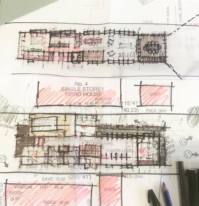 Is the pencil mightier than the mouse ? Early ideas for new Torquay house to finish up the working week. #goteam #designer #design #torquaylife #livebythebeach