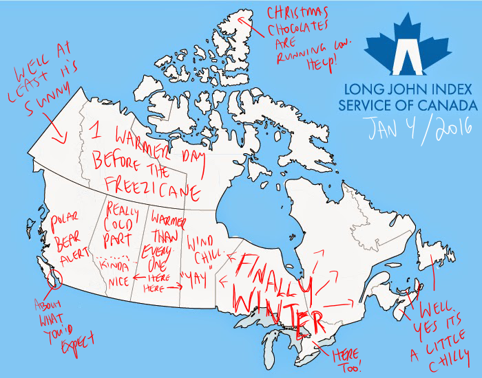 Long John Index Summary and Weather Map  Jan 4 2016  The Long
