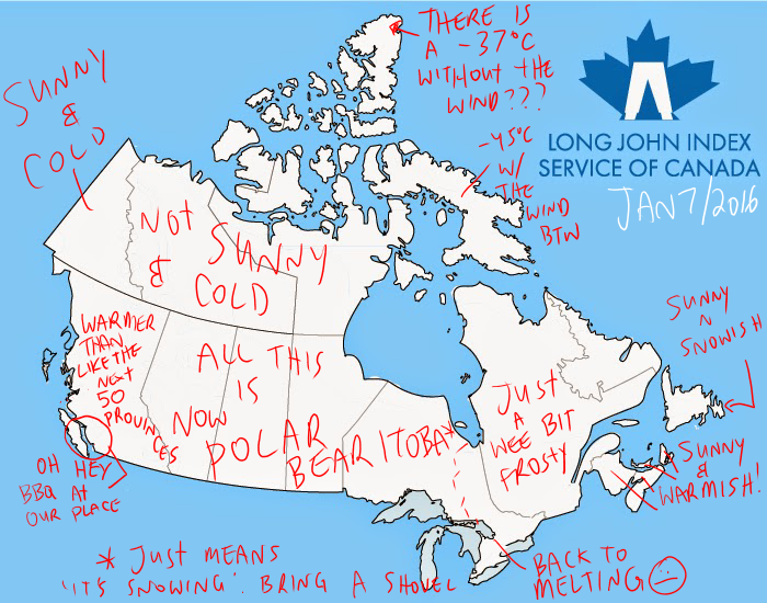Long John Index Summary And Weather Map Jan The Long - Mountains in canada map