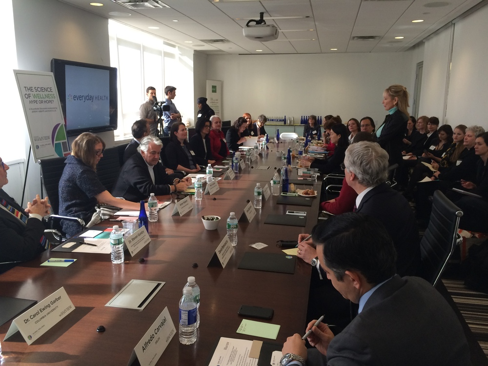 "Global Wellness Institute and Scientific American Worldview roundtable ""The Science of Wellness—Hype or Hope?"""