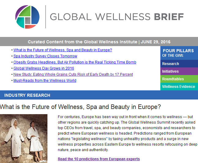 Global Wellness Brief June 29, 2016
