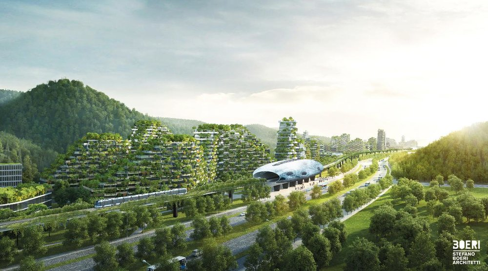 Caption: Liuzhou Forest City underway in China, credit: CLAD magazine