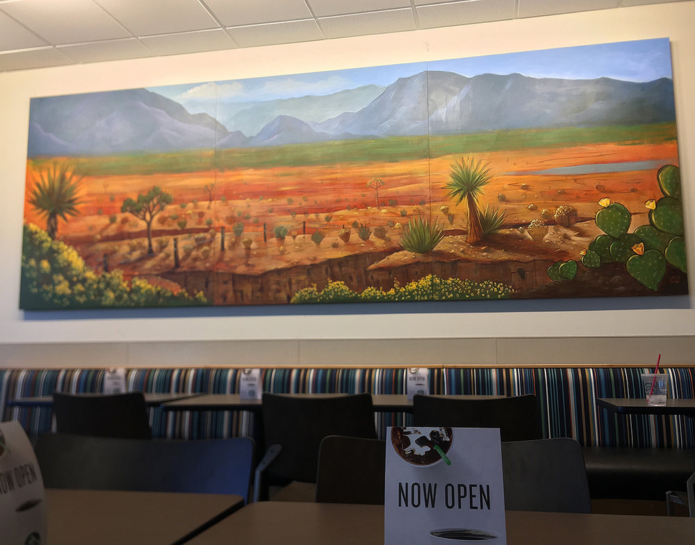 A recent commissioned piece for Smith's Marketplace / Kroger located in the Skye Canyon area of Las Vegas.  14'x5' acrylic on wood.