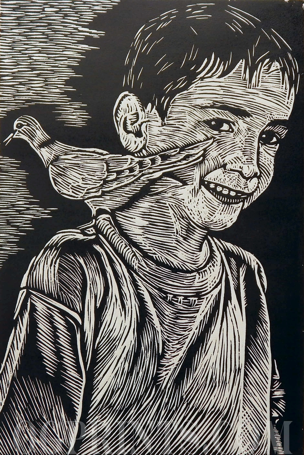 """Youth""   Relief 16"" x 22"" Artist Proof 2014"