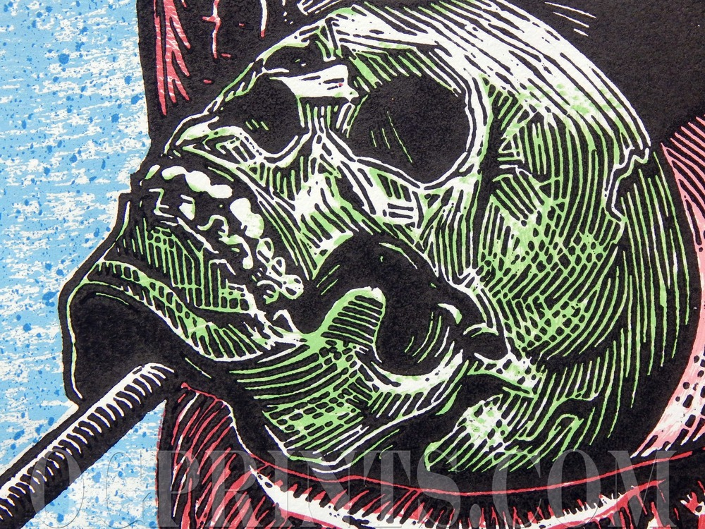 """Skull Candy""   Relief & Serigraph 14"" x 16"" Edition of 20 2014"