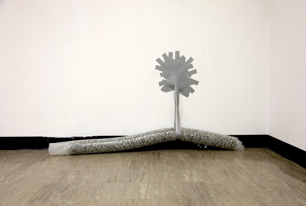 SPENT ,2012  plastic, carpet padding, duct tape  photograph by Katrin Winkler