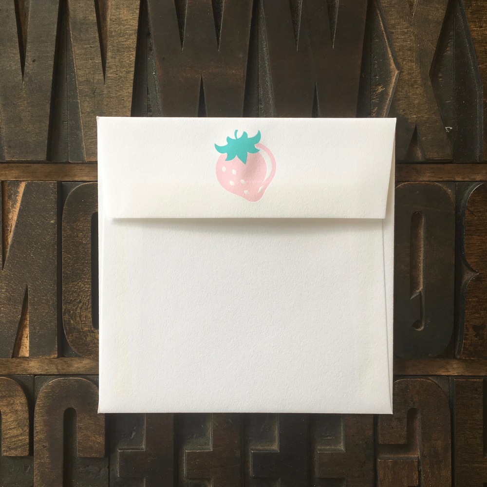 Small Square, Letterpress Flap