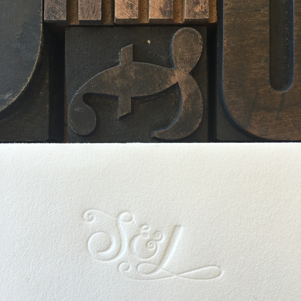 Blind Letterpress Flap