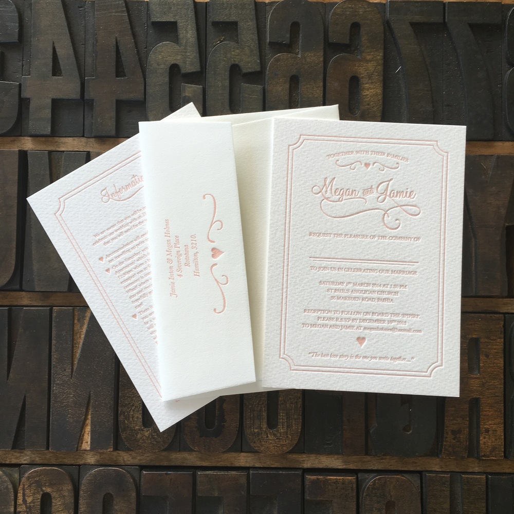 US A6, Letterpress Flap