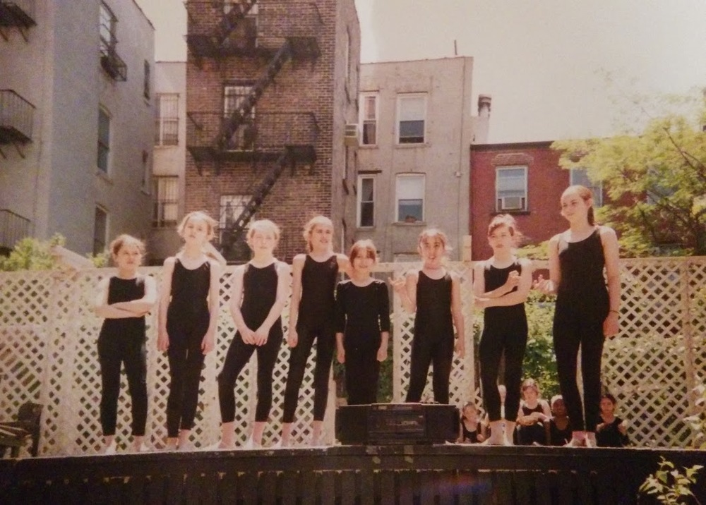 My childhood dance troupe,  LocoMotion , performing at a community garden on the Lower East Side of Manhattan.