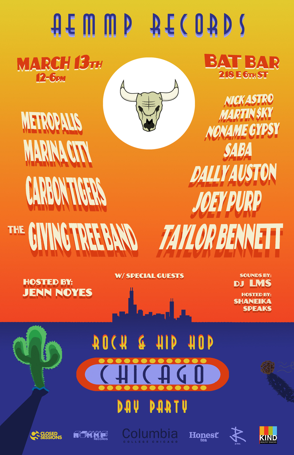 AEMMP 2014 SXSW Day party banner