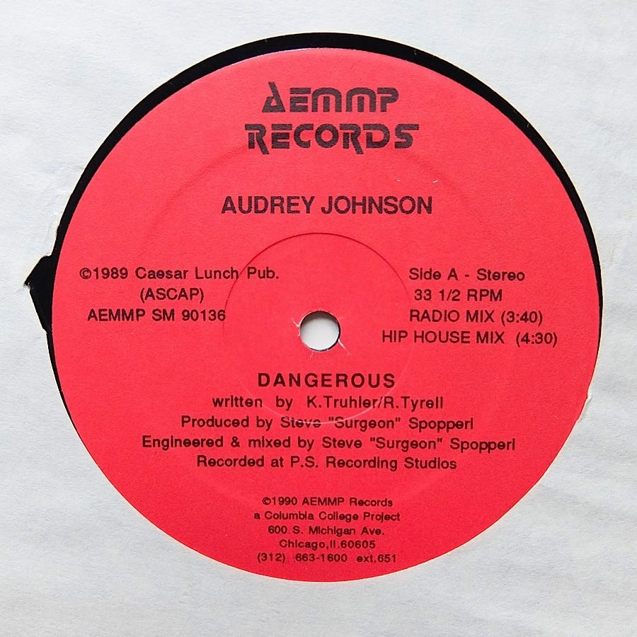 Audrey Johnson Dangerous Vinyl Artwork