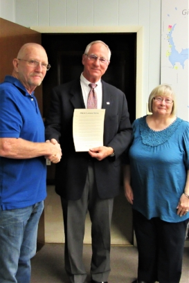 Gillespie Proclamation with Mayor John Hicks, John Fassero and Nancy Grandone