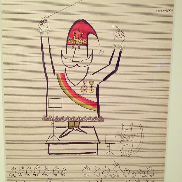 Original Saul Steinberg holiday drawings for Hallmark. c.1950's. Retrieved from Kate Bingaman-Burt Flickr account.