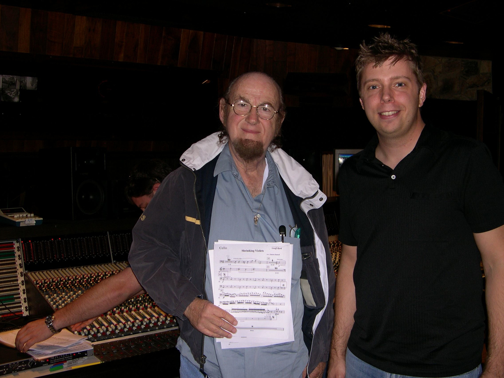 Steve with Grammy Award-Winning string arranger  Jimmie Haskell