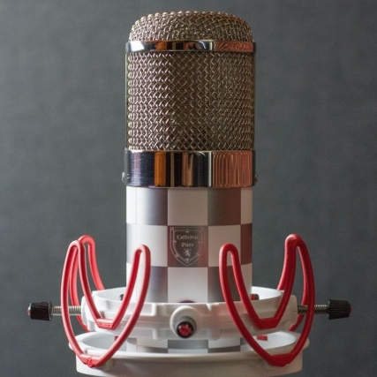 One of Steve's beloved  Cathedral Pipes  Microphones