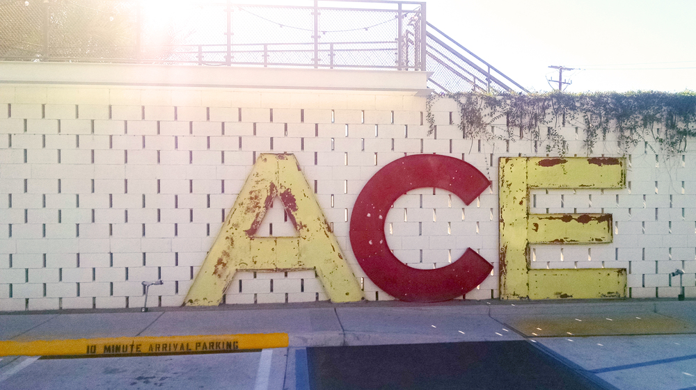 The ACE sign provides excellent photo opportunities