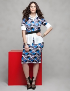 Eloquii Geometric Skirt $69 and Skirt $69