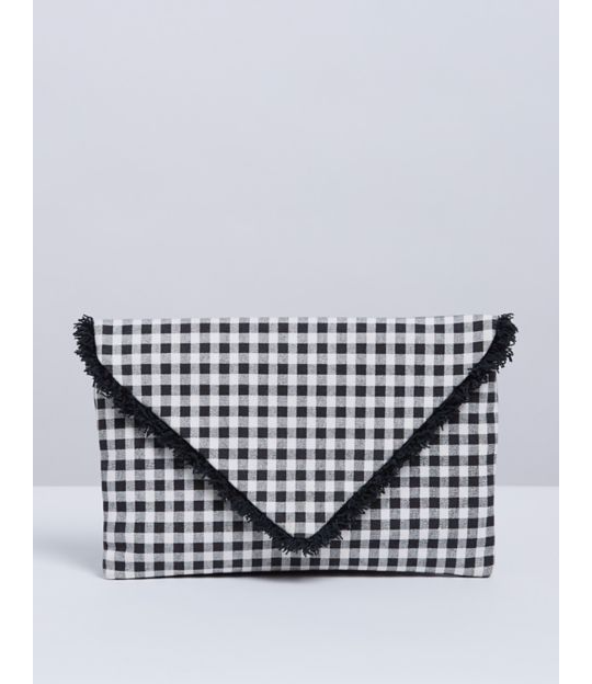 Lane Bryant Gingham Clutch