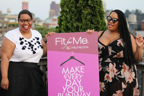 Taking pics with Fit For Me Ambassador Essie Golden.