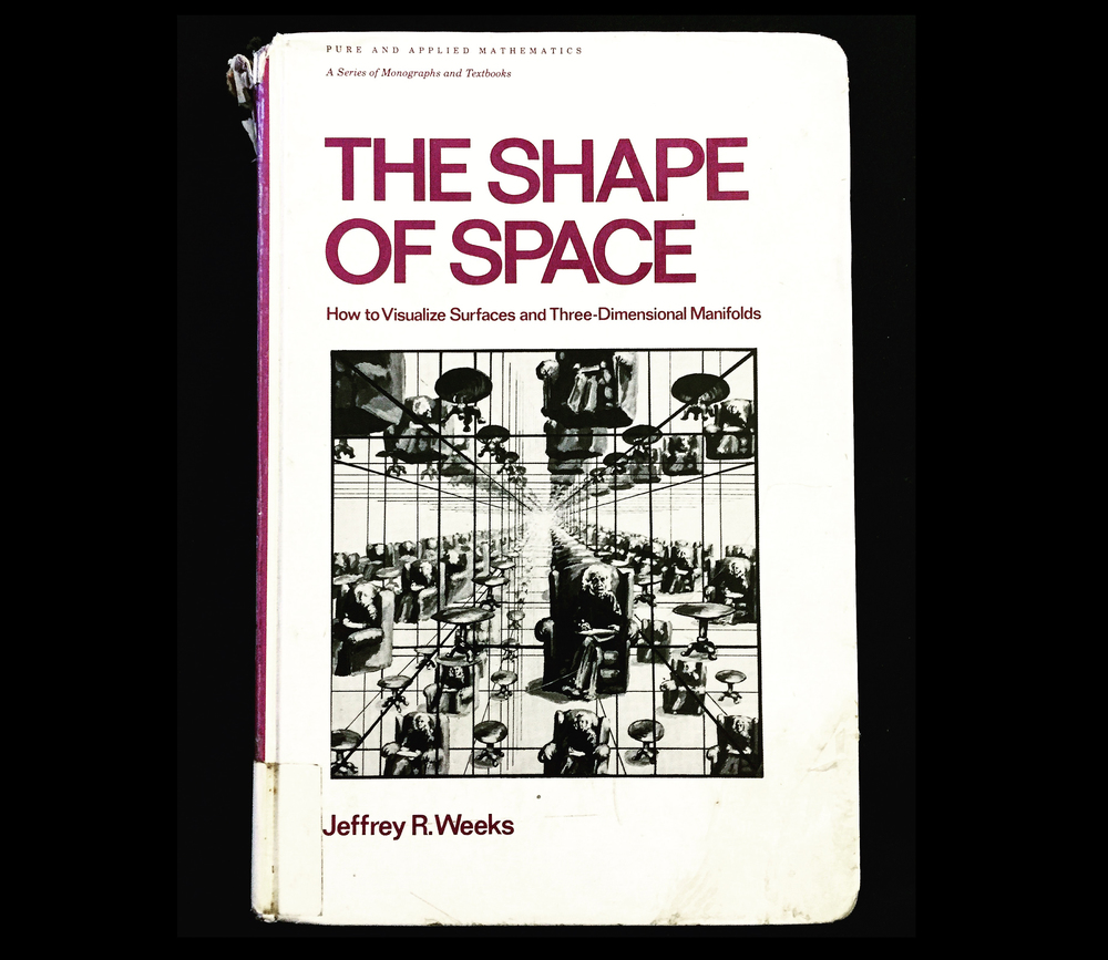 The Shape of Space by Jeffrey R. Weeks, shown: first edition
