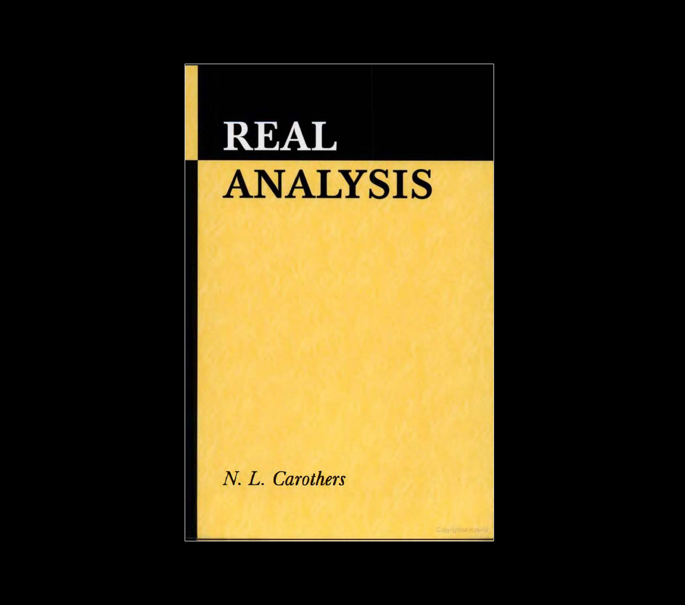 Real analysis by N. L. Carothers