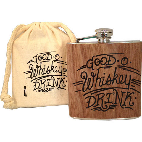 Whiskey flask for guys on the go.