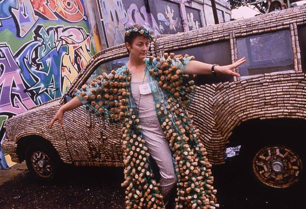 Cork Truck with Cork Ball Gown Designed by Janet Groenert
