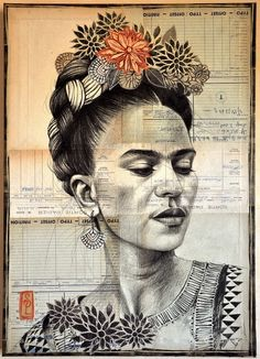 Portrait Of Frida Kahlo by artist Stephanie Ledoux