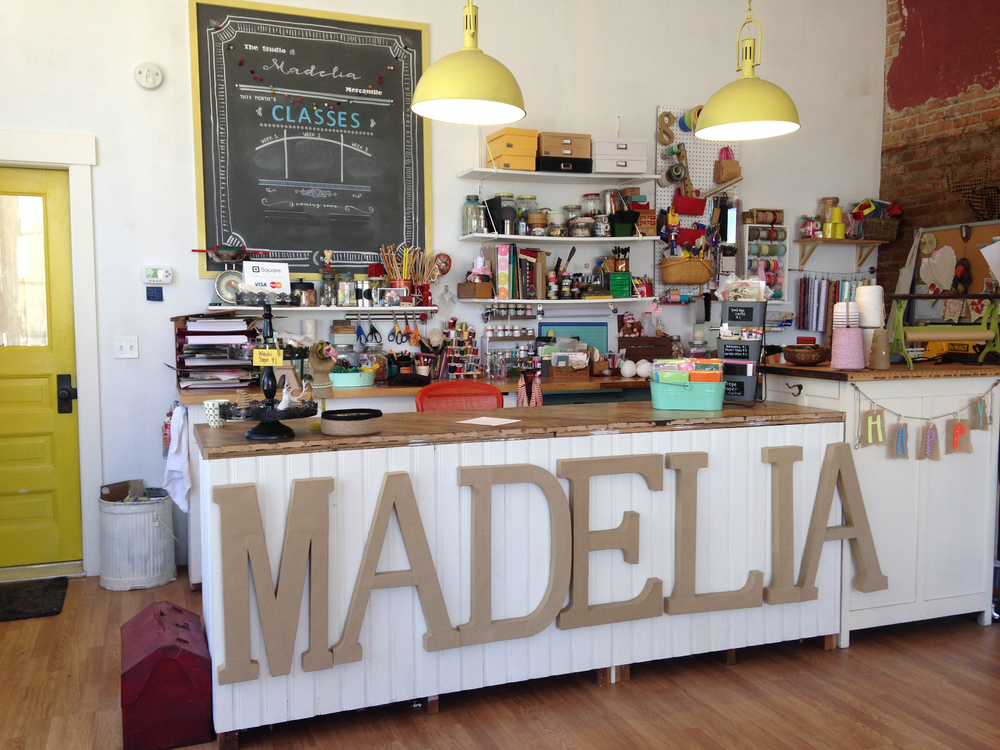 Maker space at Madelia Mercantile