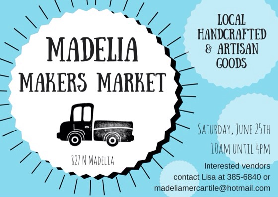 Art Salvage and Madelia Mercantile are getting ready for the Madelia Makers Market this June. Apply now to sell your handcrafted goods.  Are you a creative nonprofit or community group? Inquire about free info tables during the market.  Interested vendors contact Lisa at 385-6840 or madeliamercantile@hotmail.com