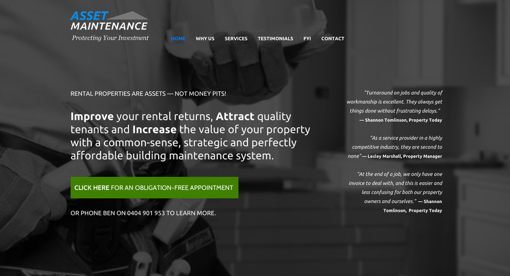 your asset website design