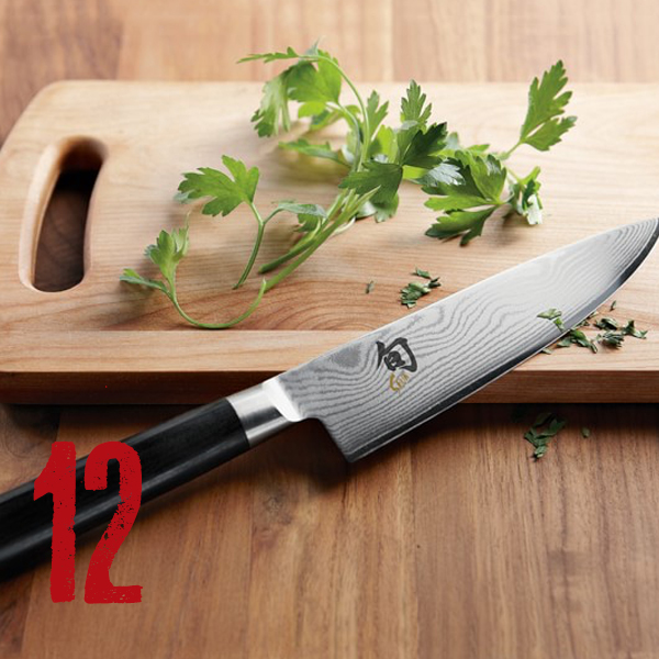 "Shun Ken Onion Knives - This is my ""must have"" - a cool knife that works and that you can sharpen. Something about these knives that creates ease and flexibility, I just love them and they make an awesome gift."