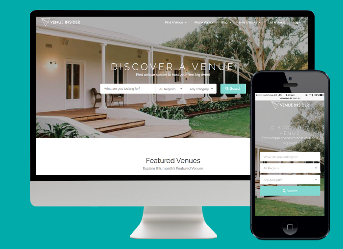 Venue Insider was designed on Wordpress to offer an in-depth user experience when searching for event venues.