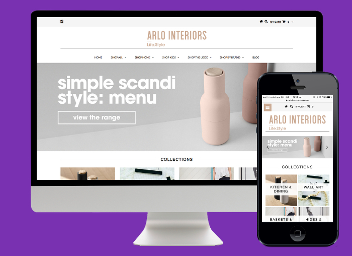 We designed Arlo a Shopify store to show off their range of beautiful Scandinavian inspired homewares and gifts.