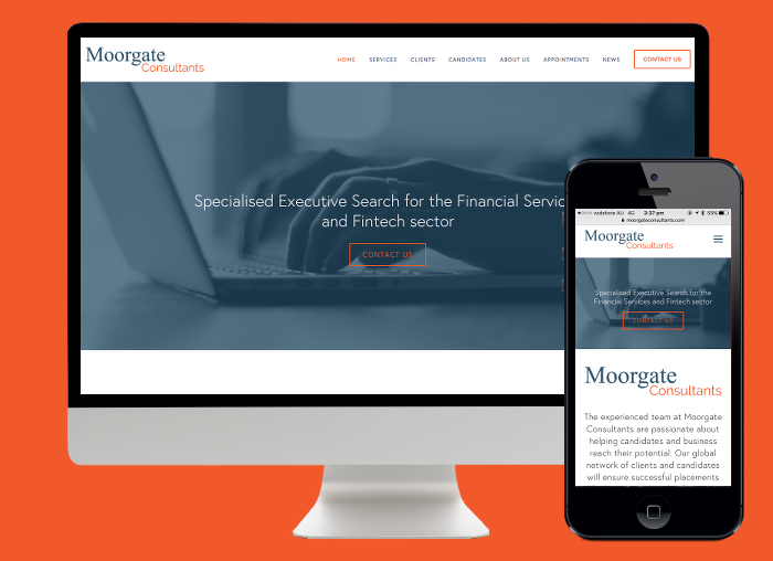 Moorgate Consultants are a professional search company and needed a website to reflect that. Squarespace has provided this.