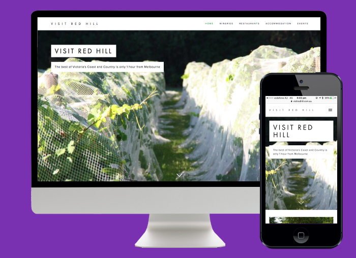 Using the Squarespace platform we created a visually stunning and responsive tourism site for Visit Red Hill.