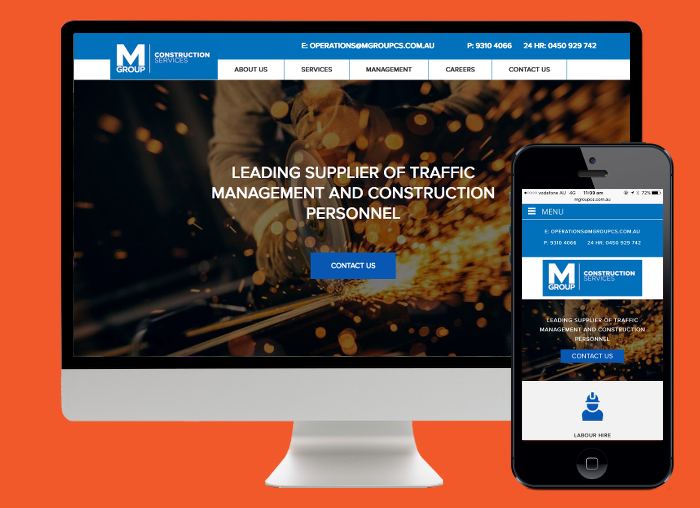 Using Wordpress we were able to make a clean, functional and interactive website for M Group Construction.