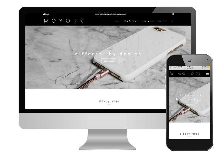 Moyork - The team at Moyork needed fully customised product pages to show their products full design features. This site proves that great imagery, yields great results.Built on: Shopify