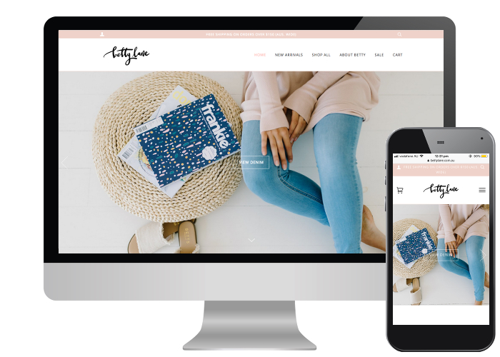 Betty Lane - Inspired by the coastal lifestyle of her small Victorian home town, Tamara from Betty Lane provided fantastic imagery showcasing her line of everyday essentials through to boho chic.Built on: Shopify
