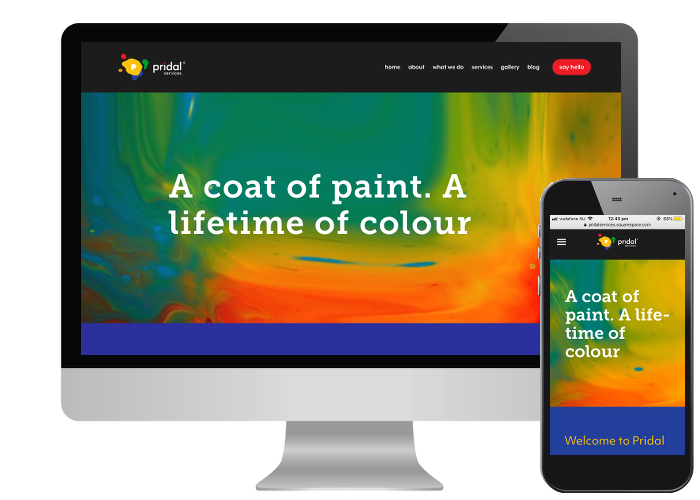 Pridal Services - Pridal Services are an Adelaide painting company, and as the owner is a lover of bright colours it was a great opportunity for us to work on our creative side to give him a bright knockout website.Built on: Squarespace