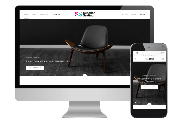 Superior Seating - High quality furniture and high quality images make for the perfect combination of style and design for this new Shopify store.