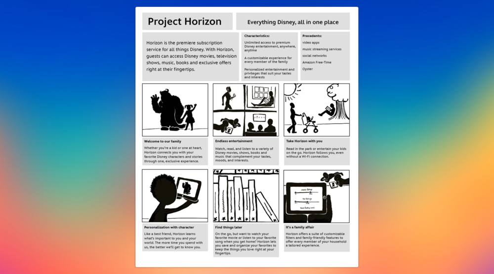 "The initial vision poster for DisneyLife (a.k.a. ""Project Horizon"")."