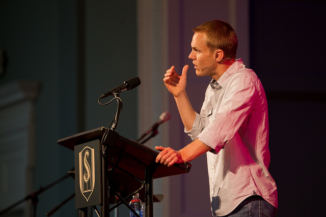 David Platt preaching at Southeastern Baptist Theological Seminary, Fall 2013. Photo from SEBTS archives. See: https://www.flickr.com/photos/southeastern/9606045395/in/album-72157635183464333/