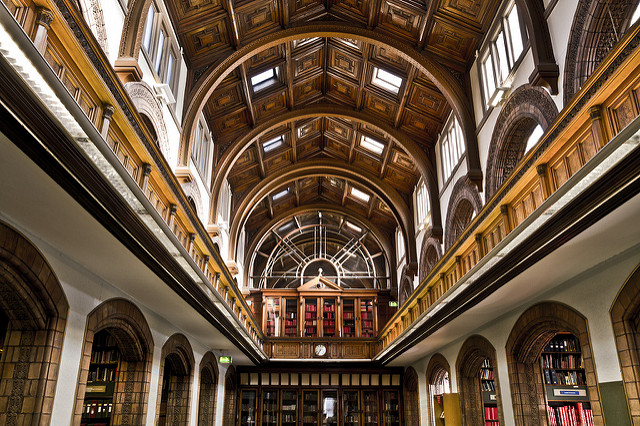 Public Domain Photo of Leeds Central Library, taken by Michael Beckwith.  http://ow.ly/PpWm304Gs9Y