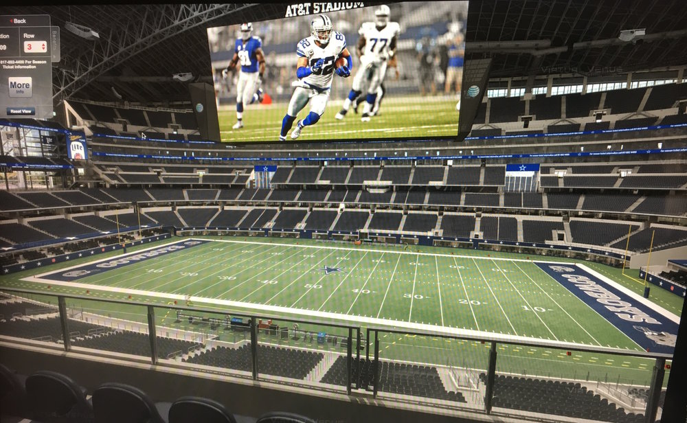 View from the seats you could win in the GRRNT Dallas Cowboys Raffle!